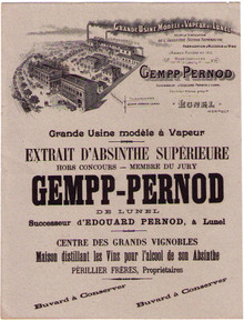 Antique Gempp Pernod Buvard (ink blotter)