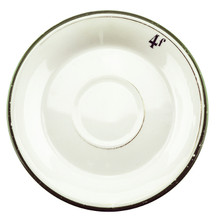 Antique Absinthe Saucer/Coaster, Green Rim 4f, Gold Line 41156