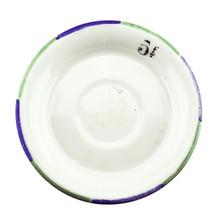 Antique Absinthe Saucer/Coaster, Green & Blue Rim 5f