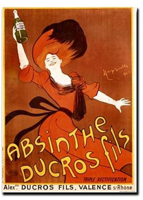 Absinthe Ducros Note Card