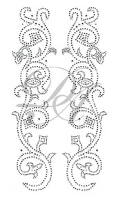 Ovrs5107- Scroll Fleur De Liz Pair Jacket Design