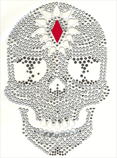 Ovrc1701 - Red Diamond Skull - ON SALE!
