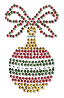 Ovrs209B - Small Bow Ornament - ON SALE!