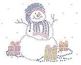 Ovrs272 - Snowman with Presents - ON SALE!