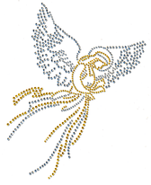Ovrs1032 - Silver & Gold Angel - ON SALE!