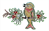 Ovrs1520 - Christmas Bird on Branch - ON SALE!