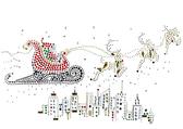 Ovrs1660 - Santa Sleigh Riding Over City
