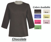 Style # 6026 - Crew Neck 3/4 Sleeve Top ON SALE NOW!