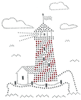 Ovrs11 - Silver & Red Lighthouse - ON SALE!