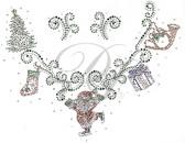 Ovrs5366 - Christmas Ornaments Round Neckline