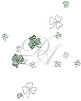 Ovrs2990 - Multiple Size Clovers Scattered Sheet