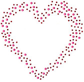 Ovk249 - Pink & Red Scattered Heart - ON SALE!