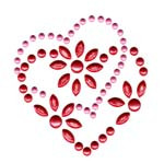 Ovrs2900 - Red & Pink Overlapped Pearl Hearts - ON SALE!