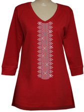 Style # 1114 - Red w/Design # Ovrs7203 - (2 pcs)