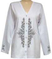 Style # 1012C - White w/Design # Ovrs6155 - Gray