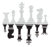 Ovrg009 - Glitter Chess - ON SALE!