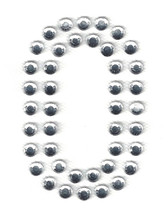Ovrs3388-0 - 2 Inch Double Row Rhinestone Number 0