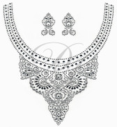 Ovrs7109 - Crystal Lace Round Neckline