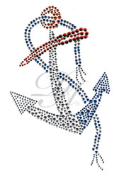Ovrs1511 - Nautical Anchor with Rope