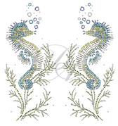 Ovrs9803S - Seahorse Pair