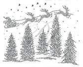 Ovrs5389 - Winter Christmas Trees and Reindeer Scene