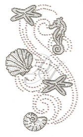 Ovrs9808 - Starfish, Seahorse and Shell Collage