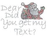 Ovrs5385 - Dear Santa Did you get my text? - ON SALE!