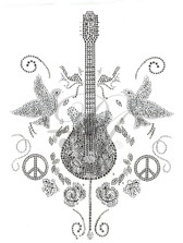 Ovrs2802 - Guitar, Doves, Peace Signs and Roses - ON SALE!