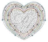 Ovrs4996 - Multi Color Outline Heart