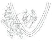 Ovrs1041 - V-Neckline with Side Hearts
