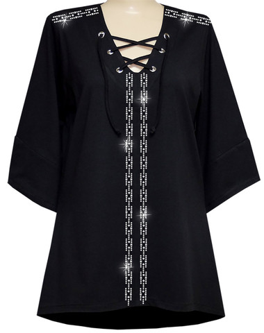 Style # 1714 - Black w/Design # Ovrs 817