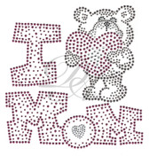 Ovrs4988 - I Heart Mom with a Teddy Bear