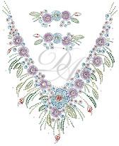 Ovrs4937 - Colorful Flower V-Neckline