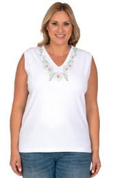 Style # 1001 - White w/ Design # Ovrs7150V