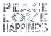 Ovrs3721 - Peace, Love, Happiness