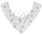 Ovrs7269 -  Multi Swirl V-Neckline