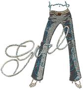 OvrL283 -   Girl Sequins  w/ Jean Legs