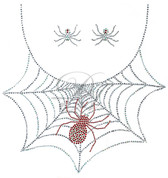 Ovrs7339 - Spider on Web Crew Neckline