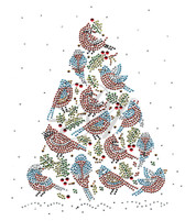 Ovrs7355 - Christmas Trees of Cardinals