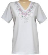 Style # 1704 - White w/ Design # Ovrs7143
