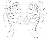 Ovrs7372  - Swirls, Dots and Grommets Yoke Pair