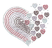 Ovrs4990 - Tri Color Heart with Floating Hearts