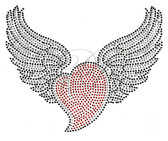 Ovrs2534 - Curvy Red Heart w/ Wings