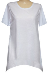 Style # 1508 - Round Neck Short Sleeve Shark Bite Tunic for Sublimation