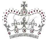 Ovrs374 - Crown w/ Cross & Fleur-de-lis