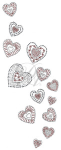 Ovrs7422 - Scattered Hearts Decor Panel
