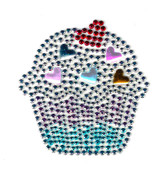 Ovrs3197s - Small Cupcake w/ Hearts