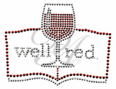 Ovrs5527 - Well Red w/ Wine Glass and Book