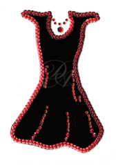 OvrL103 -  Black & Red Sequin Dress