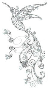 Ovrs7426 - Swirl Hummingbird Decor